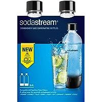 Sodastream 3000242 2 Bouteilles 1L Classique Lave Vaisselle Plastique, Transparent, 18 x 10 x 26 cm