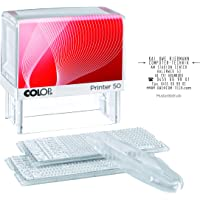 COLOP Printer 50/2 Set 8 Lines for Self-Assembly Including 2 Types Sets and Tweezers