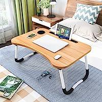 Astory Table de lit pour ordinateur portable avec pieds pliables et emplacement pour tasse pour manger le petit déjeuner…