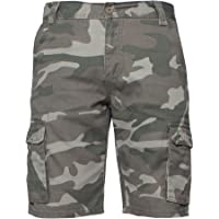 Enzo Jeans Mens Cargo Camo Shorts Summer Combat Camouflage Chino Half Pants