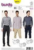 Burda B6874 Patron de Couture Chemise Homme 19 x 13 cm