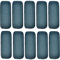 MOMY MOM 4 Layer Reusable Washable Baby Nappy Pads, Cloth Diaper Inserts, Wet Free; Microfiber, Grey (Pack of 10)