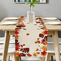 Chemin de table aspect lin pour l'automne, nappe élégante pour la salle à manger, les fêtes, les vacances - 40 x 180 cm…