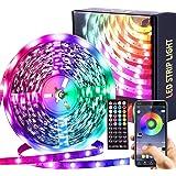 LED-strip Muzieksynchronisatie Kleurveranderende RGB LED-strips Afstandsbediening met 44 toetsen, Lngebouwde microfoon, App-g