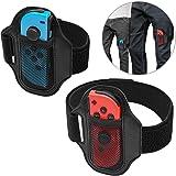 MENEEA Cinghie per le gambe per Nintendo Switch Ring Fit Adventure, JoyCon Controller Game Accessori, Cinghia elastica…