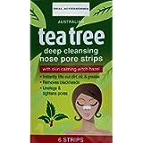 6 x Australian Tea Tree Nose Pore Strips, Pore Strips for Blackheads Nose Blackhead Remover Strips, ,Deep Cleansing Nose…