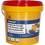 SikaWall Enduit de Lissage et de Finition murs et plafonds prêt à l'emploi en pâte, 1,5kg ~ 4m²