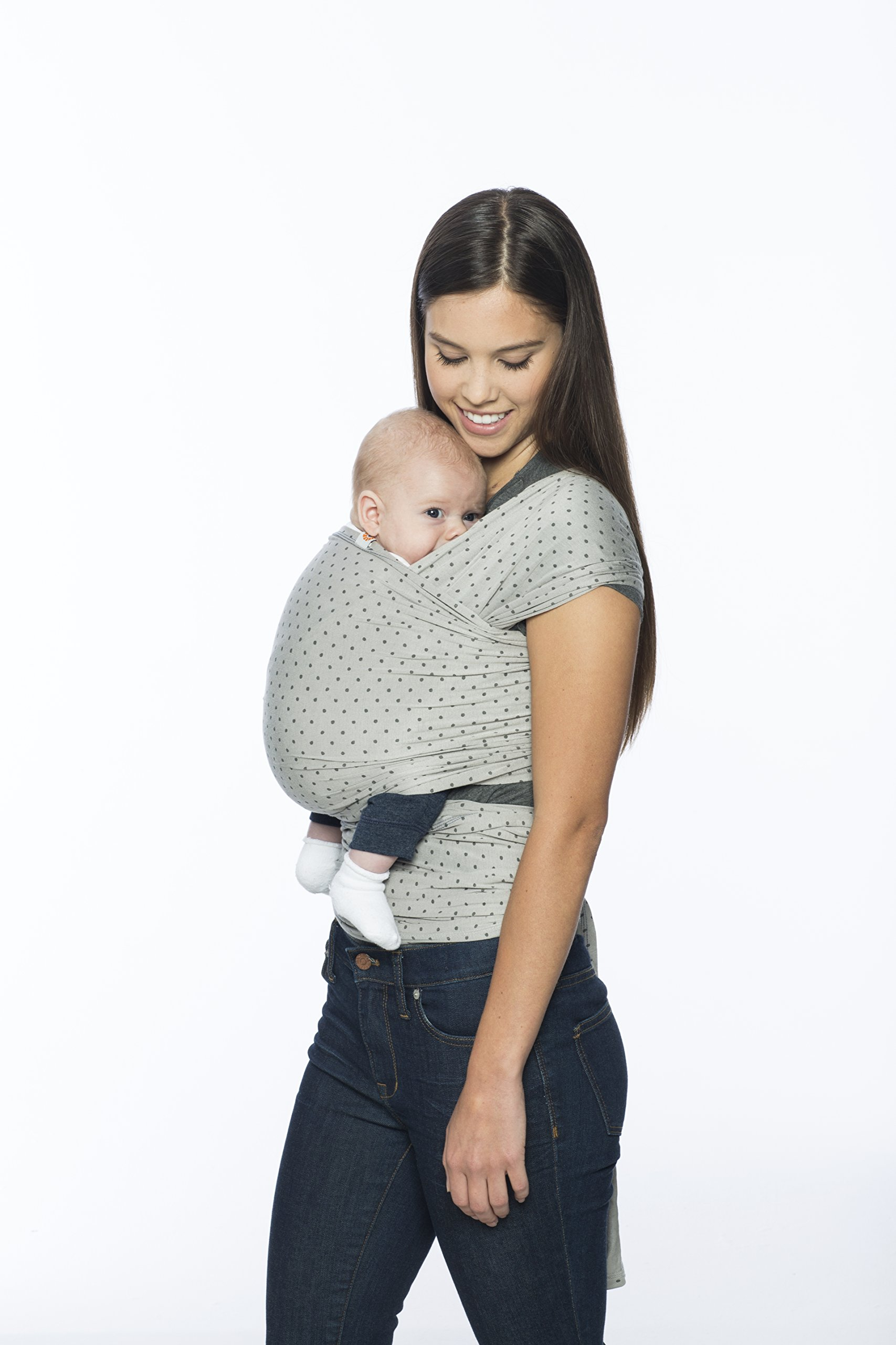 Ergobaby Baby Wrap Carrier for Newborn to Toddler up to 11kg, Pearl Grey Baby Sling from Birth Breathable Stretchy made from 100% Viscose, Unisex Ergobaby Ergo baby stands by our products so you can carry your precious cargo with confidence.  If you find a manufacturing or material defect, Ergo baby will replace your carrier or part at no charge. That's the Ergo Promise. BUILT-IN CARRYING POUCH: Folds into integrated pocket for easy storage of your baby wrap on the go LIGHTWEIGHT and SOFT: Breathable and durable fabric, soft on baby's skin 2