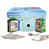 FujiFilm Instax Camera Mini 9 Bundle Pack (Ice Blue)