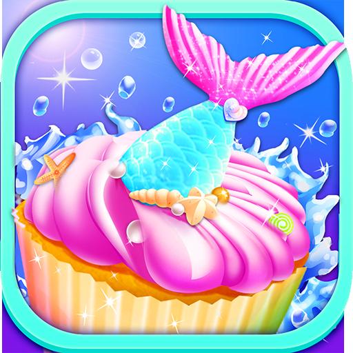 Mermaid Unicorn Cupcake Bakery Shop Cooking - Für Maker Cookie Kids