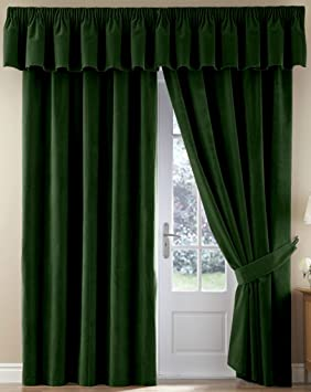 Thermal Velour Velvet Curtains Finished In Black 90