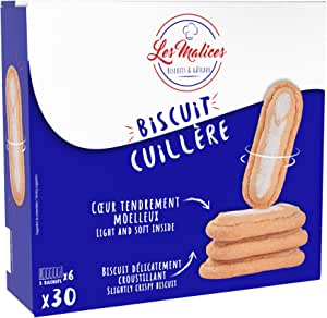 Les Malices - Soft Ladyfinger 4 confezioni da 30 biscotti (999 gr) formato famiglia - fatti in Francia