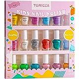 TOMICCA Set Di Smalti Per Unghie Per Principessa, 18 flaconi Rainbow Candy Colors Smalto Speciale Con Brillantini Per Bambini