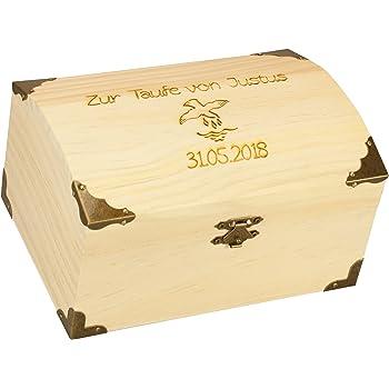 Schatztruhe Taufe Aus Holz Geldgeschenk Geschenk Zur Taufe Als