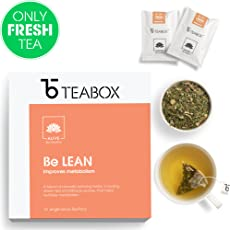 Teabox Weight Loss Green Tea/Low Caffeine with Natural Ingredients Miracle Leaves, Bitter Gourd, Milk Thistle, 40g with 16 Teabags