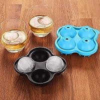 AUCHIKU Bac à glaçons en Silicone Boule ,2 Paquets 8 Blocs Glaçons pour Whisky, Cocktails, l'eau, Whisky, Gin, DIY, sans…