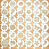Qpout 36Pack Cookie Pochoir modèles de Cuisson gâteau Pochoir Dessin modèles Journal Fournitures en Plastique Peinture Moule
