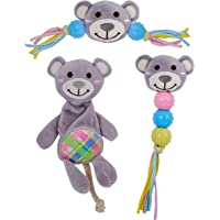 Goofy Tails Babypet Skinny Bear Soft Toys Combo | Squeaky Plush Toys for Puppy & Stuffed Toy for Dogs(Small Breed Dog…