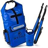STAILS® Dry Bag 20l inkl. wasserdichte Innentasche - bequem & hochwertig - ideal als wasserdichter Rucksack für Kanu oder Kaj