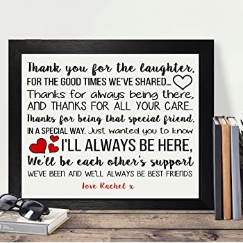personalised presents gifts for best friends bridesmaid colleague co workers farewell leaving wedding day birthday christmas xmas friendship love thank you