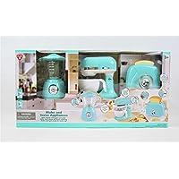 PlayGo Pretend Play Gourmet Kitchen Appliances 3 Pieces Set- Blender, Mixer & Pop up Toaster (Blue)