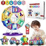 WEARXI Magnetische Bausteine Kinder - 144pc Magnete Spielzeug Kinder, Magnetspielzeug für Kinder, Magnetspiele Montessori Spi