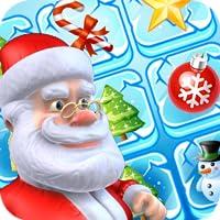 Weihnachtsliebes-Match und zerschlagen Santa Candy Match