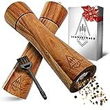 Schwarzwald Spirit ® Poivrier bois – Moulin à poivre manuel - Traitement noble – Set de moulin à sel et poivre avec moulin en