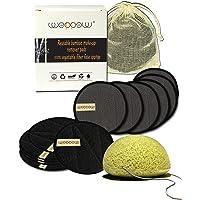 Dischetti Struccanti Lavabili Riutilizzabili Ecologici 6 In Carbone Di Bamboo, 6 In Bambù e Cotone Panno Pulizia Viso E…