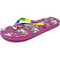 Children's Kids Girls Pink Unicorn Flip Flops Durable Sandal Shoes Size 10-2