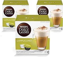 Nescafe Dolce Gusto Cappuccino Coffee - 3 x 16 Capsules