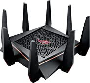 ASUS Gaming Router Tri-band WiFi (Up to 5334 Mbps) for VR & 4K streaming, 1.8GHz Quad-Core processor, Gaming Port, Whole Home