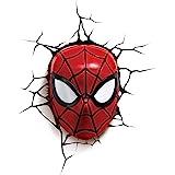 3DLightFX 816733002224 Marvel Spiderman Mask 3D Deco Light,Red