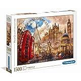 Clementoni- Vintage London Collection Puzzle, 1500 Pezzi, 31807
