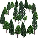 Bememo 22 Piezas de Modelo de Árbol 3 - 16 cm de Árboles de Modelo Mezclados Árboles de Tren Árbol Diorama de Paisaje de Ferr