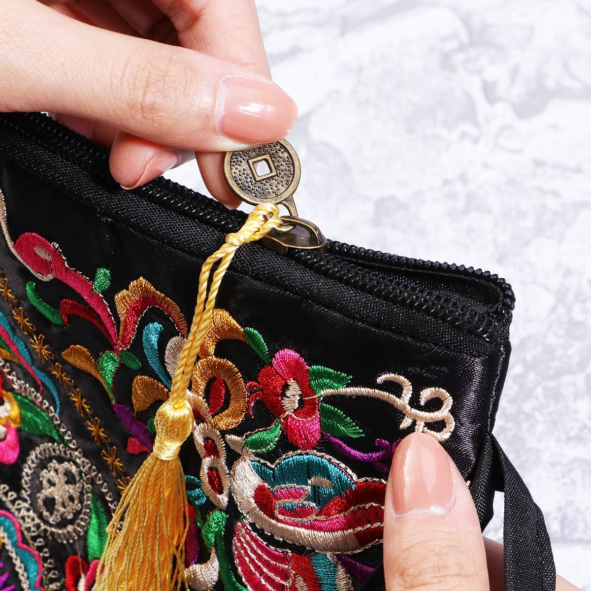 819B%2BtoF%2BxL - Tinksky Vintage Mujer étnica Monedero Cartera Bolsa Mariposa Flor teléfono