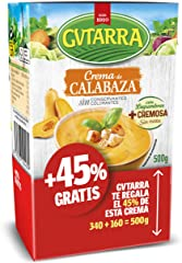 Gvtarra Crema de Calabaza, Sopas y Cremas de Vegetales, Sin Gluten, Tetra Pak 500 Gramos