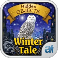 Hidden Objects Winter Tale & 3 puzzle games