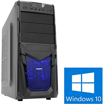 OCHW Viper 4.2GHz Fast Quad Core, Home Office, PC, Desktop Gaming Computer 4.2GHz GHz Turbo AMD A8 Richland 7600 Quad Core, ATI Radeon HD R7 Graphics, 1000GB HDD Hard Drive, 8GB 1600MHZ RAM, USB 3.0, Windows 10 Operating Software