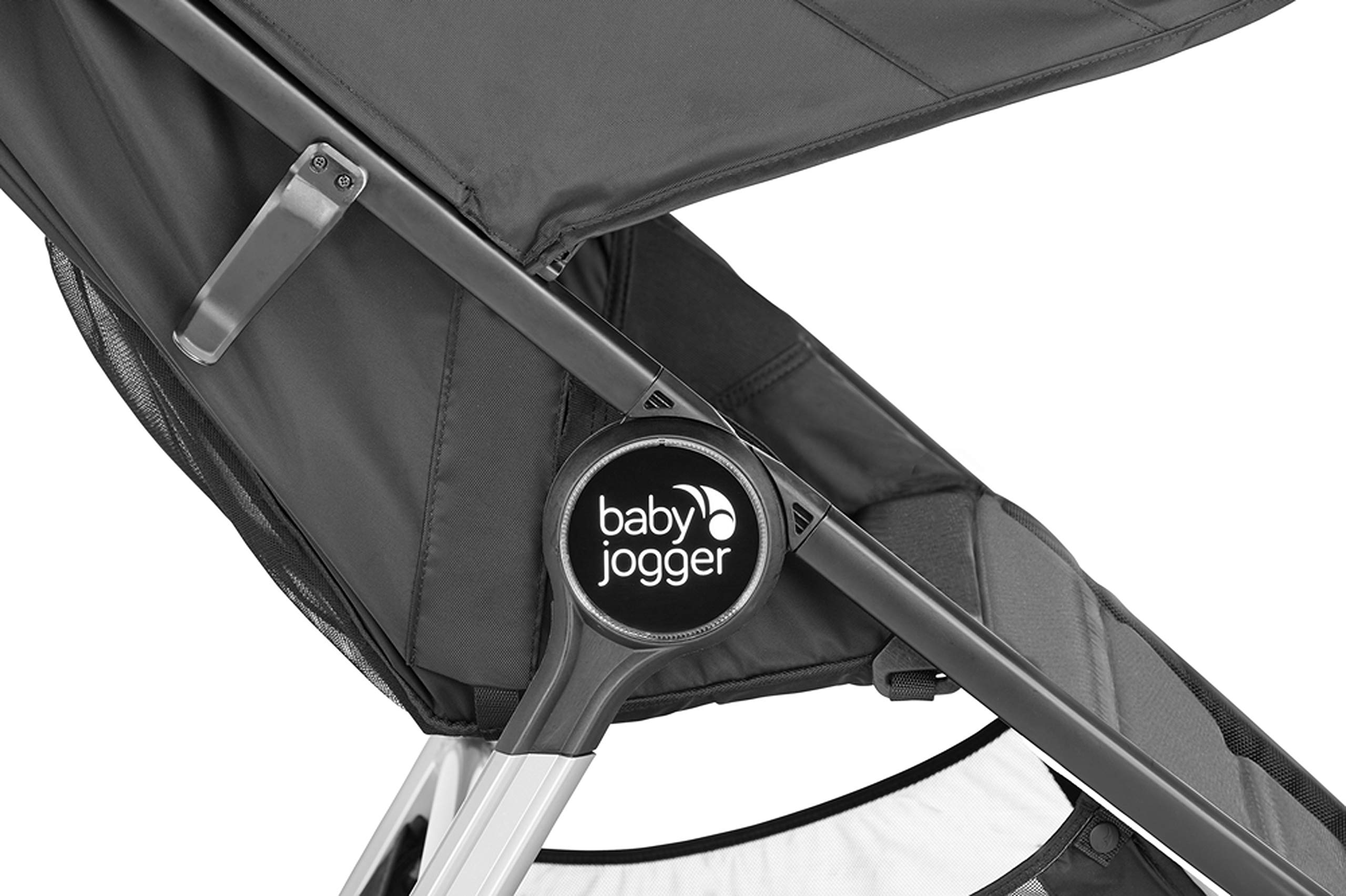 baby jogger City Mini 2 Single Stroller Jet Baby Jogger The baby jogger city mini 2 has an all new lightweight and compact design with the signature one-hand compact fold, with an auto-lock it's remarkably nimble and ready for adventure Lift a strap with one hand and the city mini 2 folds itself: simply and compactly. The auto-lock will lock the fold for transportation or storage The seat, with an adjustable calf support and near-flat recline, holds a child weighing up to 22kg and includes a 5-point stroller harness to keep them comfortable and safely secured 6
