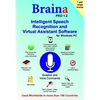 Braina PRO 1.2 Speech Recognition and Virtual Assistant Software for Windows PC (1 Year)