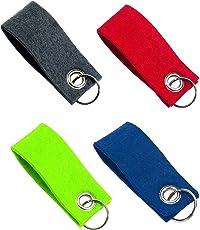 Set Schlüsselanhänger Schlüsselring mit bunten Anhängern aus Filz - Anhänger