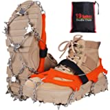 Seydrey Kramponger, is och snögrepp, iskilar dragkraft snögrepp för stövlar skor kvinnor, män, barn halkfria med 19 rostfria