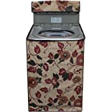 Lithara Beige Color Printed Washing Machine Cover for LG 6.2 kg Fully-Automatic Top Loading (T7269NDDL)