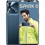 Tecno Spark 8 (Atlantic Blue, 2 GB RAM, 64GB Storage)   16MP Dual AI Camera   New Metal Coding Design  5000mAh   8MP Selfie C
