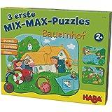 Haba 302546 3 Mix-Max Puzzles-Bauernhof