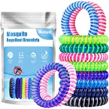 Beikell Mosquito Repellent Bracelets, [12 Pack] Anti Mosquito Insect Bracelets Bands, 100% Natural DEET-Free Waterproof…