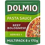 Dolmio Tomato Bolognese Microwave Pasta Sauce, Bulk Multipack 8 x 170g pouches