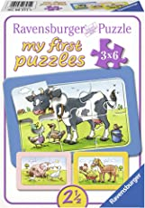 Ravensburger 06571 Gute Tierfreunde, my first puzzles 3 x 6 cm