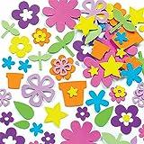 Baker Ross EK324 Autocollants en Mousse Auto-Adhésifs pour Jardin de Fleurs - Paquet de 200, pour que les Enfants Décore Coll
